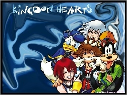 goofy, donald, postacie, Kingdom Hearts, duck